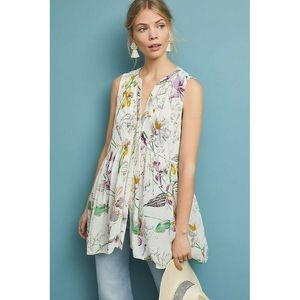 New Nia Floral Tunic by Anthropologie